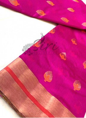 Beautiful Pure Chanderi Silk Saree