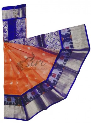 Beautiful Pure Kuppadam Pattu Saree in Ikat Border
