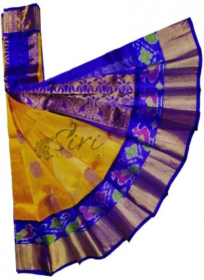 Beautiful Pure Kuppadam Pattu Saree in Ikat Borders