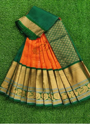Beautiful Pure Kuppadam Pattu Saree in Kanchi Borders