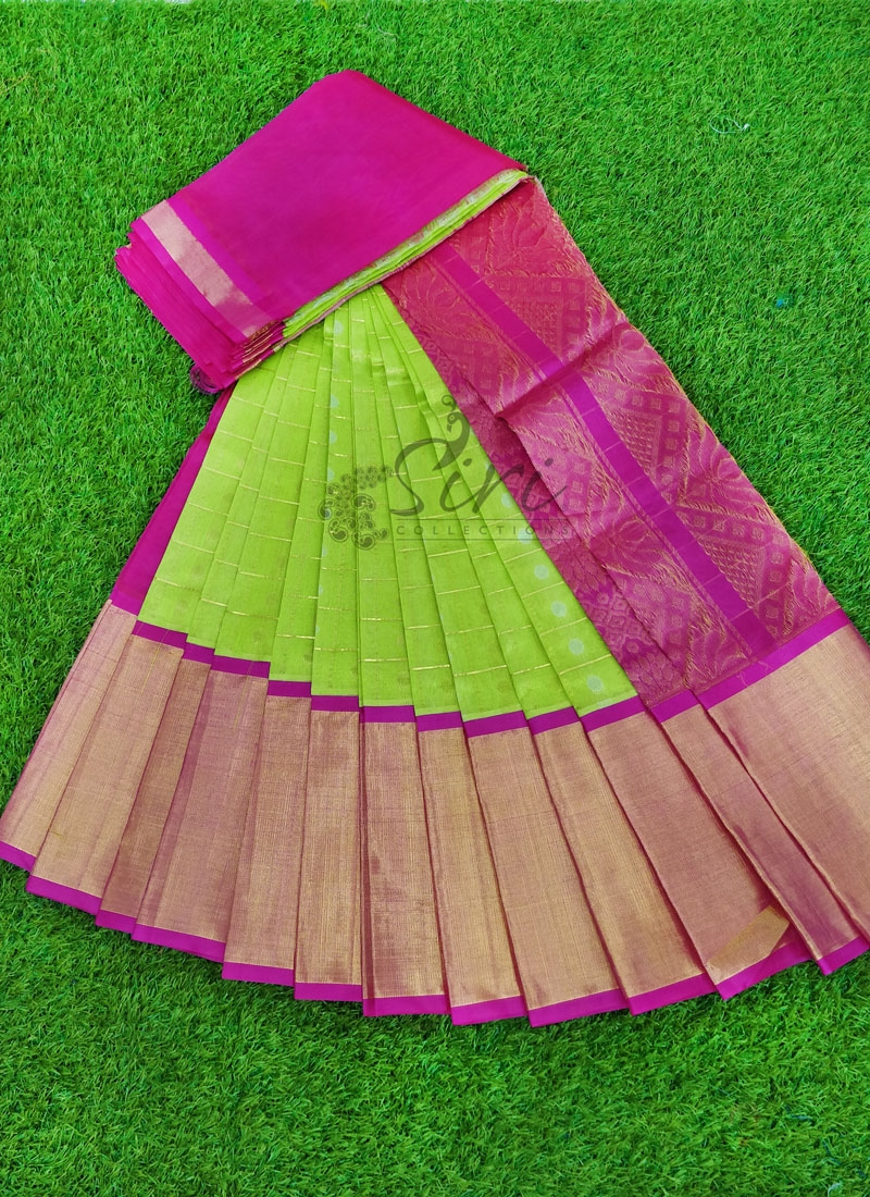 Beautiful Pure Kuppadam Pattu Saree in Khaddi Border