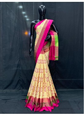 Beautiful Pure Pochampally Ikat Silk Saree