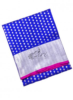 Beautiful Pure Venkatagiri Pattu Silk Saree in Blue