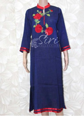 Beautiful Rayon Cotton Blend Kurti