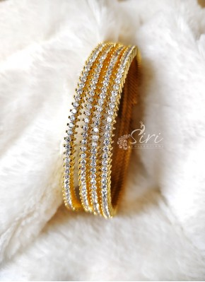 Beautiful Set of Four Bangles in CZs