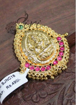 Beautiful Temple Lakshmi Micro Polish Pendant