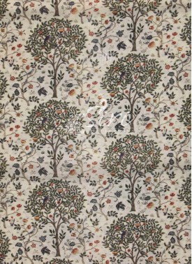 Beige Chanderi Seico Fabric in Digital Print by Meter