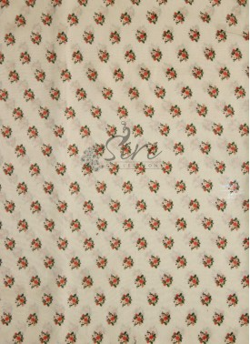 Beige Colour Chanderi Seico Fabric in Digital Print by Meter