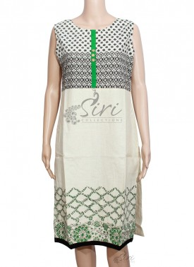 Beige Colour Khadi Cotton Kurti