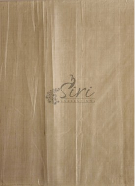Beige Pure Desi Tussar Silk Fabric by Meter