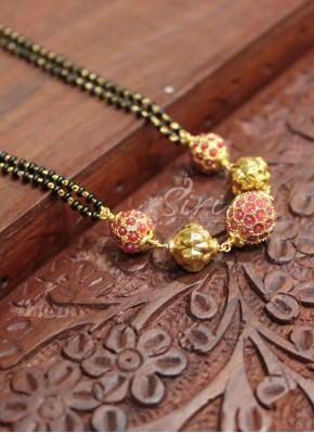 Black Beads Mangalsutra in fancy beads