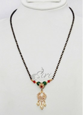 Black Beads Mangalsutra with Designer Pendant