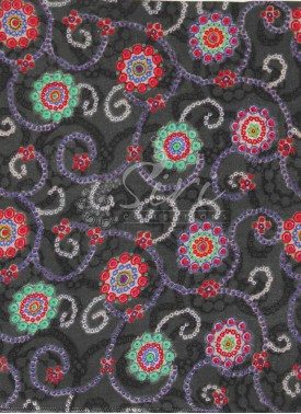 Black Grey Printed Rayon Fabric By Meter