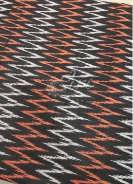 Black Ikat Cotton Fabric Per Meter