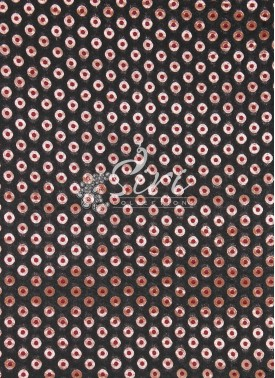 Black Maroon Gold Polka Dots Banarasi Fabric By Meter
