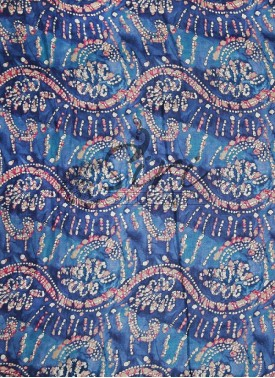 Blue White Printed Cotton Fabric By Meter