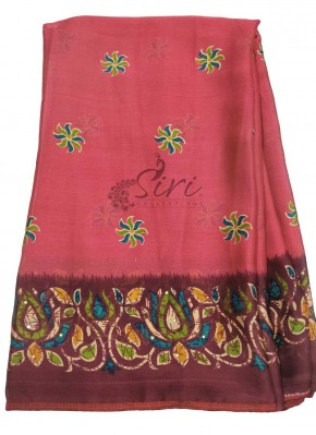 Casual Printed Fancy Crepe Saree in Small Piping Border