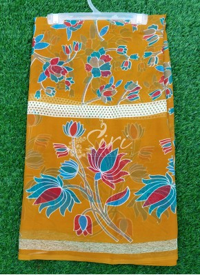 Casual Printed Fancy Georgette Saree