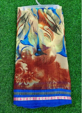 Casual Printed Fancy Georgette Saree in Fancy Borders