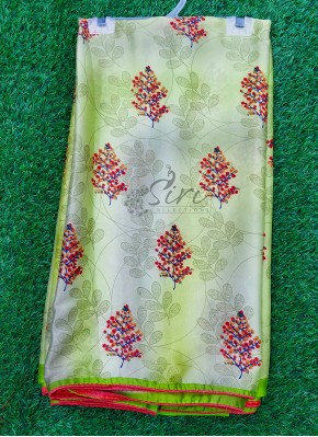 Casual Printed Fancy Georgette Saree In Piping Border