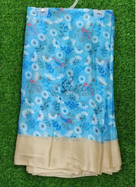 Casual Simple Printed Crepe Saree