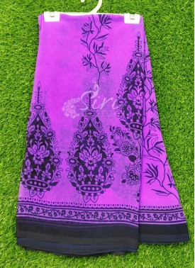Casual Simple Printed Fancy Georgette Saree