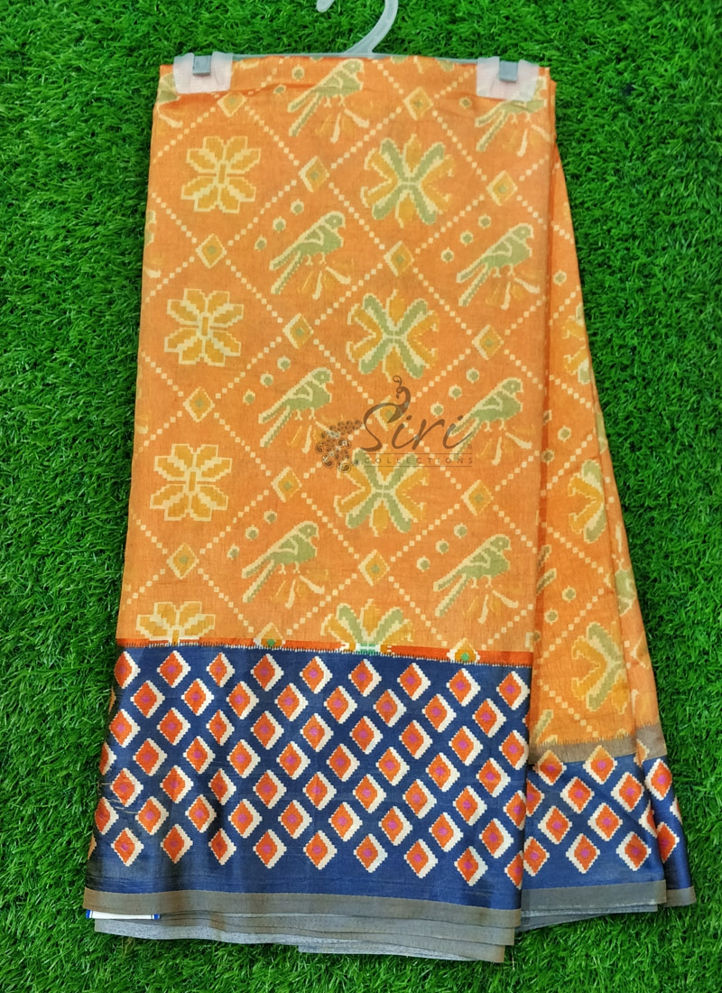 Casual Simple Printed Fancy Silk Saree