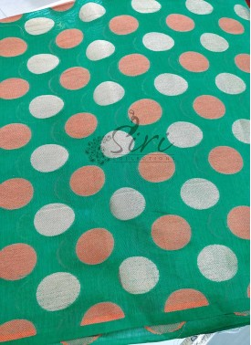 Chanderi Fabric in Self Polka Dots Per Meter