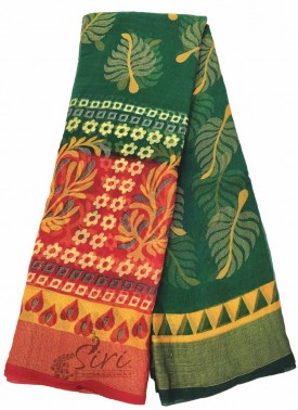 Colourful Printed Fancy Georgette Brasso Saree