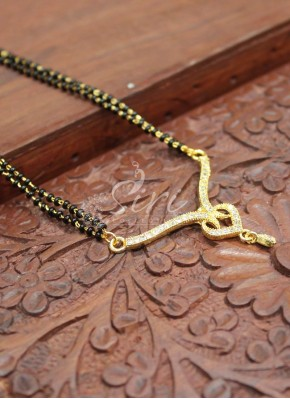 Cute Mangalsutra in AD Stone