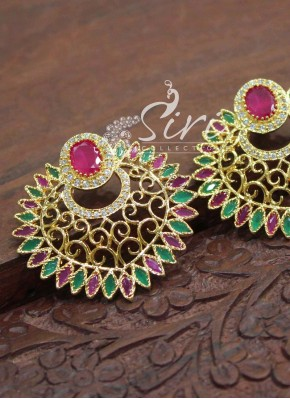 Cute Multi AD Stone Chand Baalis