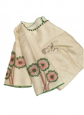 Designer Blouse Hand Embroidery and Beads Work