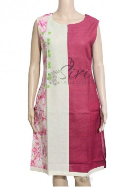 Designer Cotton Kurti in Embroidery Work