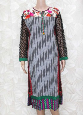 Designer Cotton Kurti with Lining and Embroidery Work