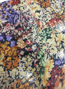 Designer Digital Print Sequins Work Georgette Fabric by Meter