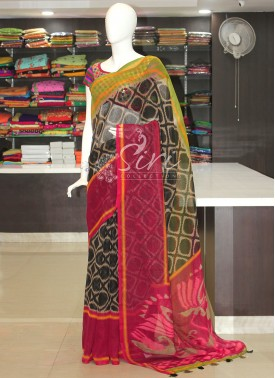 Designer Fancy Simple Fancy Jute Saree