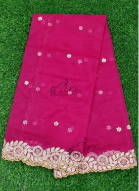 Designer Net Cut Work Dupatta