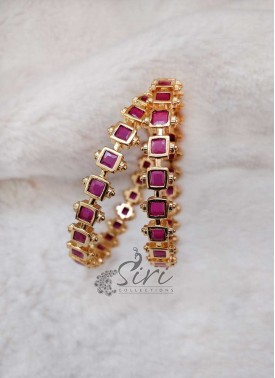 Designer Pair of Ruby Bangles