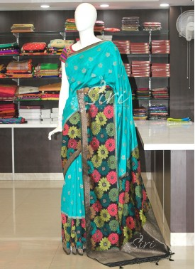 Designer PartyWear Banarasi Fancy Silk Saree