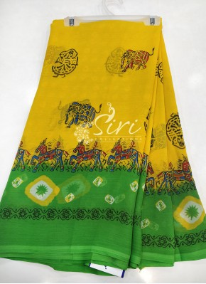 Designer Printed Fancy Chiffon Saree