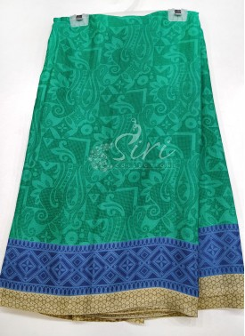 Designer Printed Fancy Crepe Saree