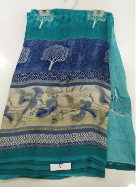 Designer Printed Fancy Georgette Saree