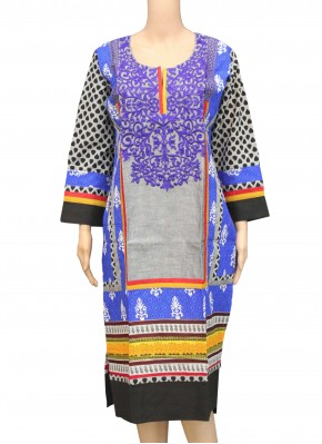 Designer Printed Multi Cotton Kurti