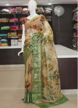 Designer Pure Organza Saree in Digital Print