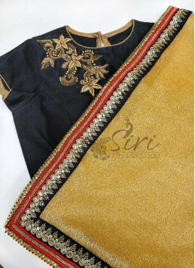 Designer Shaded Gunjan Net Saree With Designer Blouse