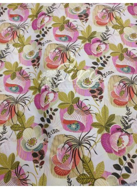 Digital Print Designer Crepe Fabric By Meter