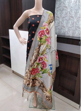 Digital Print Fancy Silk Dupatta