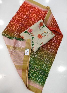 Digital Print Kota Dupatta with Digital Print Top Fabric and No Bottom