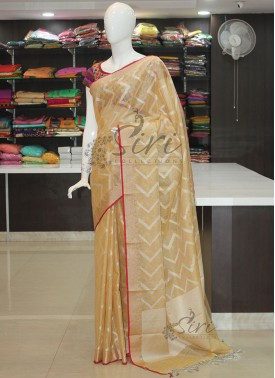 Dusky Gold Soft Tissue Saree