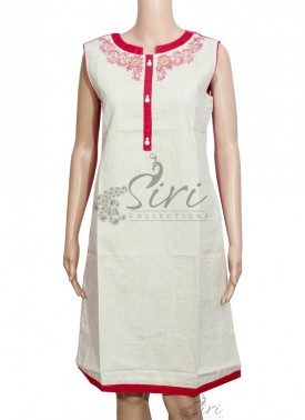 Elegant Cotton Kurti with Embroidery Work